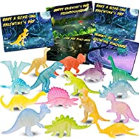 32PCS Kids Valentines Day Cards with Mini Luminous Dinosaurs, Toddler Valentines Gifts, Classroom Exchange Party Favors…