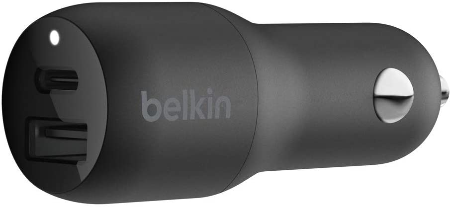 Belkin USB-C Car Charger 30W (iPhone Fast Charger for iPhone Xs, XS Max, XR, X, 8, 9 Plus, iPad Pro 10.5-inch, 12.9-inch 2nd gen) (F7U100)