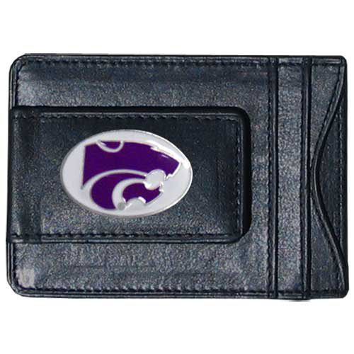 NCAA Kansas State Wildcats Cash and Card Holder - Kansas State University Leather