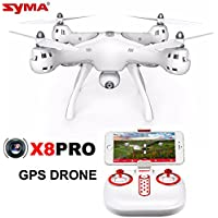 Amazingbuy - Syma X8PRO X8 Pro GPS Drone With 720P WIFI FPV Real-Time Camera Altitude Hold RC Racing Camera Drone Quad-copter RC Helicopter Toys