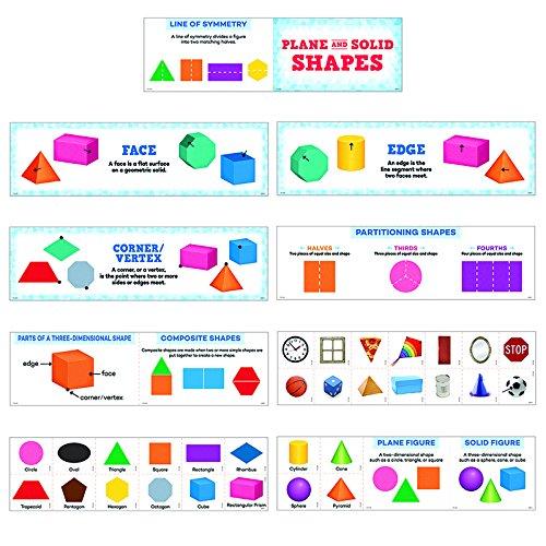 Creative Teaching Press Plane and Solid Shapes Mini Bulletin Board, Gr. K-2 (6984)