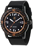 IZOD Men's IZS3/2 BLK/ORANGE Sport Quartz 3 Hand Watch, Watch Central
