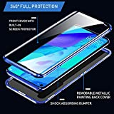 IGUCAC Case for Huawei Nova 5T / Honor 20 Case,2 in 1 Magnetic Adsorption Cover with Front/Back Tempered Glass and 360 Degree Full Coverage Anti-Scratch Metal Protection for Huawei Nova 5T,Blue