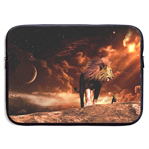 Lovesofun Cool Lion Art Illustration Waterproof Neoprene Laptop Sleeve Case - Portable Business Notebook Liner Protective Bag for MacBook Pro/MacBook Air/Asus/Dell (Laptop Case Lion)