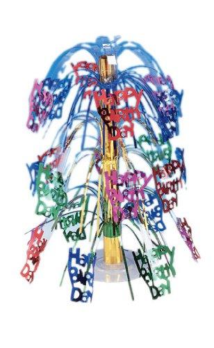 Cascading Centerpiece, Multicolor Happy Birthday