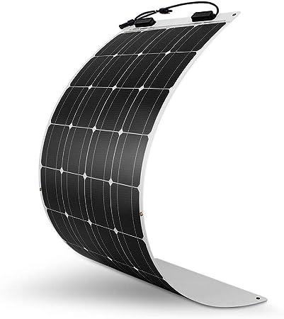 side facing renogy 100 watt monocrystalline flexible solar panel