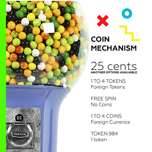 Spiral Gumball Vending Machines - Original Wizard 4'10'' - $0.25 (Red) by Global Gumball (Image #2)