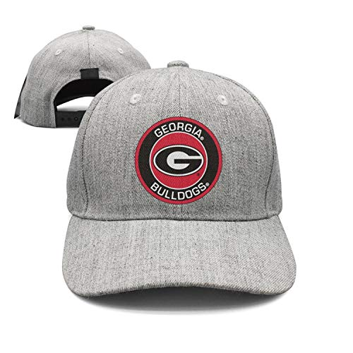 LuTao Georgia Bulldogs Round Logo Unisex Baseball Cap Adjustable Snapback hat Sport ()