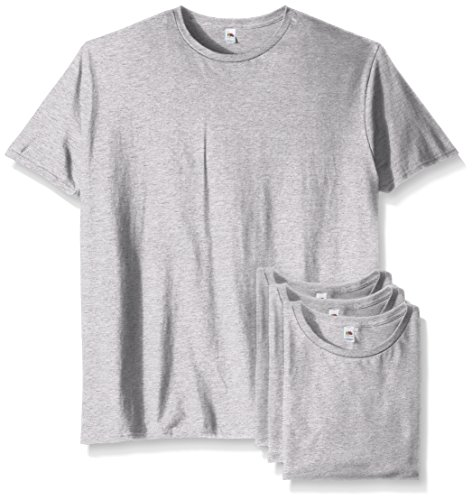 Fruit of the Loom Men's Crew T-Shirt (4 Pack), Heather Grey, X-Large