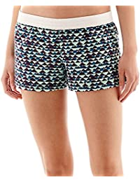 Soffe Low-Rise Peaks and Valleys Print Shorts Juniors Size XS