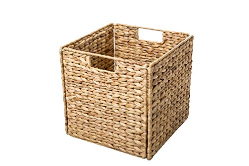 Foldable-Hyacinth-Storage-Baskets-with-Iron-Wire-Frame-by-Trademark-Innovations