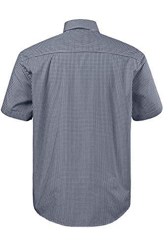 JP 1880 Homme Grandes tailles Chemise casual - Manches courtes - Homme - Poche poitrine - Haut à carreaux noir 4XL 703620 10-4XL