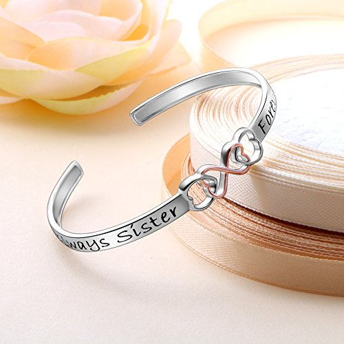 TzrNhm Long Distance Friendship Gifts for Best Friends Sisters Girls Adjustable Closure Bracelet for Her