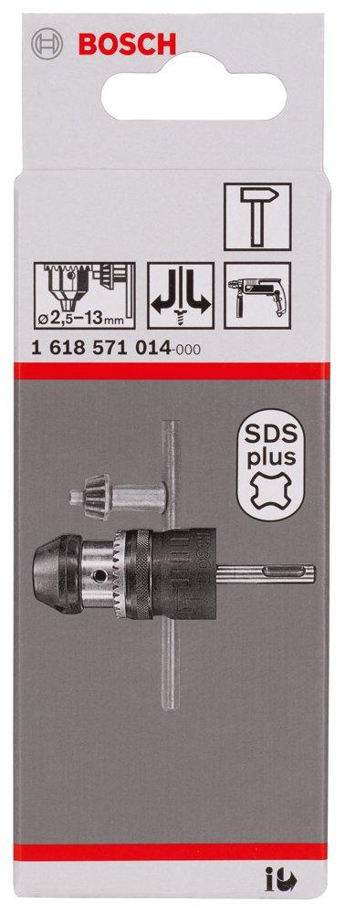 Black//Silver Bosch Professional 1618571014 Keyed Chucks up to 13mm 2.5-13xSDS+ 13 mm