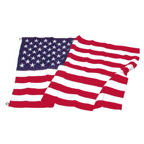 (Super Tough 4ftx6ft Polyester American Flag-US Made, Red, White, Blue)