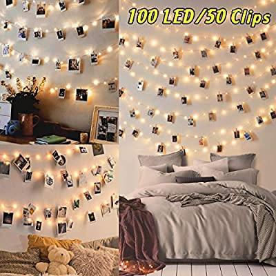 10m 100led Fairy Lights Bedroom Led Photo Clip String Lights Collage Photo Frames Polaroid Peg String Lights Photo Peg Lights 50 Clip 20 Nails