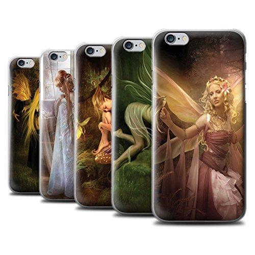 Officiel Elena Dudina Coque / Etui pour Apple iPhone 6+/Plus 5.5 / Pack 10pcs Design / Fées Élégantes Collection