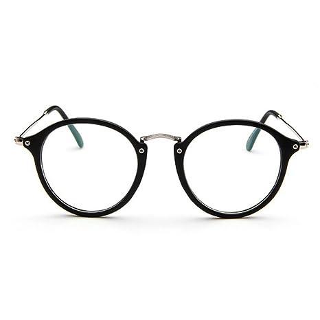 86f25f105fd48 Forepin® Lunettes de Vue Rondes Unisex Cadre Frame Lentille Claire pour  Homme et Femme Vintage  Amazon.fr  High-tech