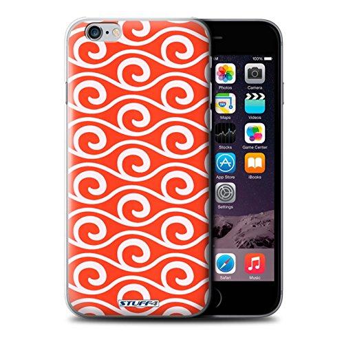 Coque de Stuff4 / Coque pour iPhone 6+/Plus 5.5 / Rouge Design / Motif ondes chic Collection