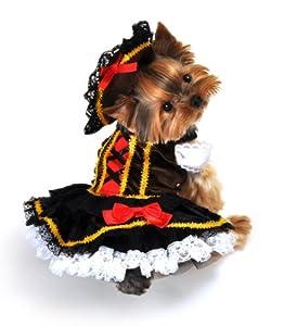 Anit Zubehör Mantel- und-Degen Pirate Girl Hund Kostüm, Large, 26