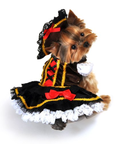 Anit Accessories Swashbuckler Pirate Girl Dog Costume, X-Large, 26-Inch
