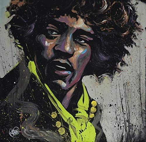 Hues of Hendrix Jimi Hendrix David Garibaldi Expressionist Art Square Poster 24x24 inch