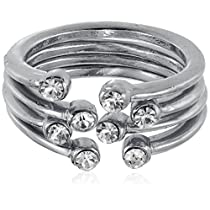 Pout Out Ring for Women (Silver) (RING-051 SLV)