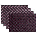Jojogood Poker Chip Placemat Dining Table Mat 12''x18'' Polyester Heat Resistant Non-Slip Place Mat 1 Piece