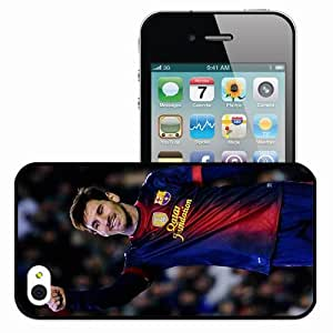 Personalized iPhone 4 4S Cell phone Case/Cover Skin 2013 Lionel Messi Football Black