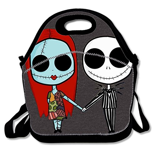 Lunch Bag The Nightmare Before Christmas Picnic Bags Multi-purpose Container with Adjustable Crossbody Strap