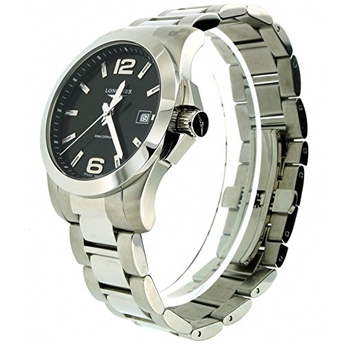 Longines Conquest Black Dial Stainless Steel Mens Watch L36594586