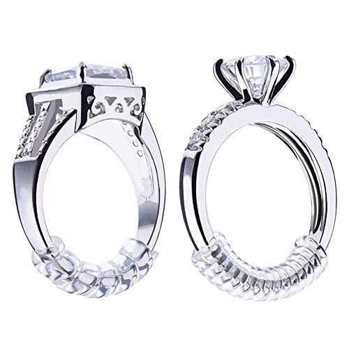 Ring Size Aienid Mens Womens PVC Ring Sizer Adjuster Perfect For Loose Rings Clear Size:3 MM