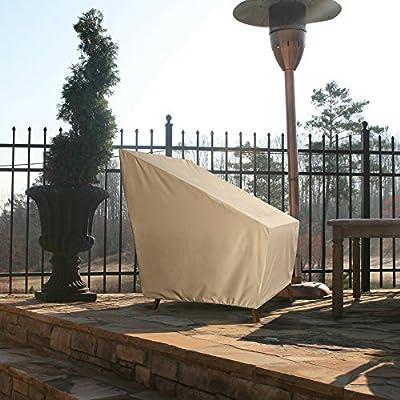 Patio Armor SF46610 Ripstop High Back Patio Chair Cover, Taupe : Garden & Outdoor