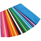 Hygloss Products Bleeding Tissue Assortment- Multi-Color Assortment 20 x 30 Inch, 20 Sheets
