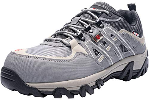 LARNMERN Work Steel Toe Shoes for Men,Breathable Safety Shoes, Industrial and Construction Shoes