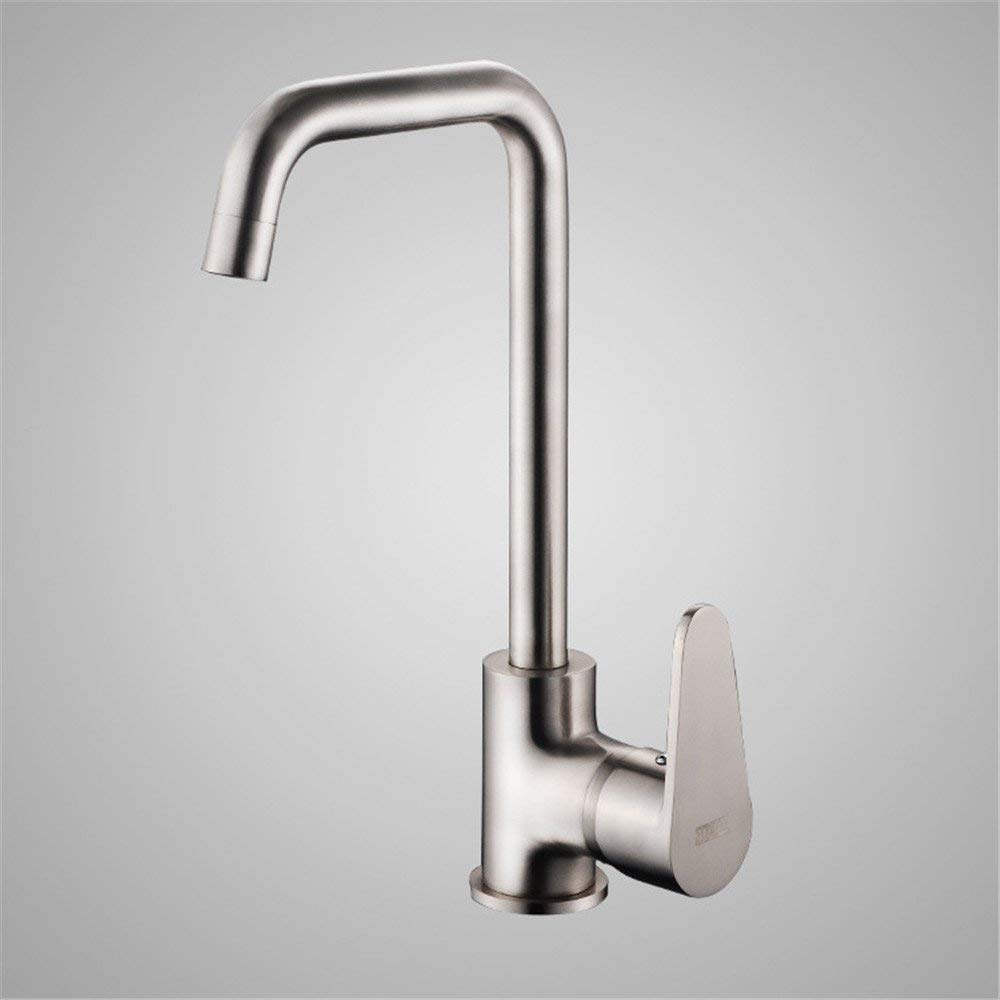 B Oudan Kitchen Faucet Brass Chromed Hot and Cold Faucet Single Handle redary Faucet A (color   A)