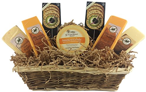 Gourmet Cheese and Cracker Gift Baskets Holiday Goulda Chedder Cheese Sampler