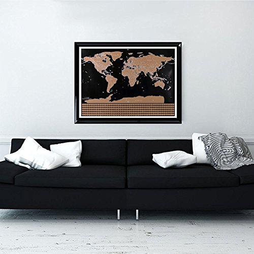 Scratch off world map travel scratch map black and gold deluxe scratch off world map and leisure scratch map black and gold deluxe editionbright colors premium artwork gumiabroncs Image collections