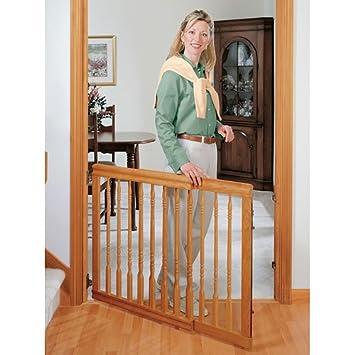 Evenflo Home Decor Wood Swing Gate Natural Oak