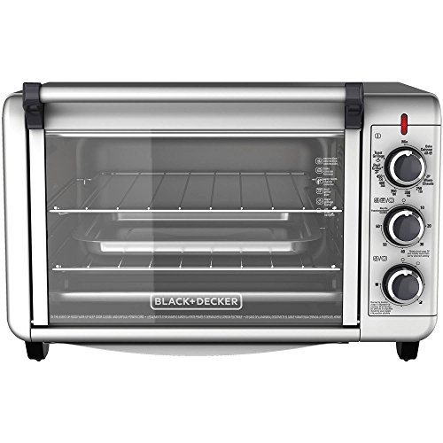 Black & Decker Countertop Convection Toaster Oven with External Crumb Tray- Silver (Coffee Maker With Toaster Oven compare prices)