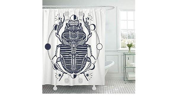 GABRI Cortina de baño Todo el Escarabajo Egipcio Símbolo del ...
