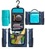 Hanging Travel Toiletry Bag for Men & Women | Waterproof Cosmetic Kit with 2 Detachable pouches | Medium Compact (11x8.3) Make-up Organizer | Premium Leakproof Case for toiletries w/Strong 360° Hook