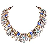 EVER FAITH Vintage Style Art Deco Statement Necklace Austrian Crystal Gold-Tone
