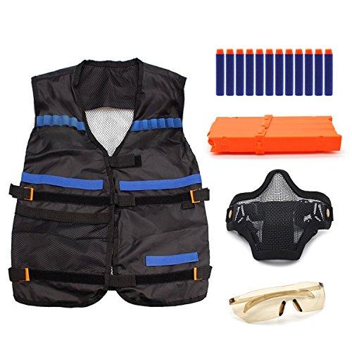 Freehawk-Tactical-Vest-Kit-Kids-Elite-Tactical-Vest-Kit-For-Nerf-N-strike-Elite-Series-include-Vest-Mask-Glass-Clips-Darts