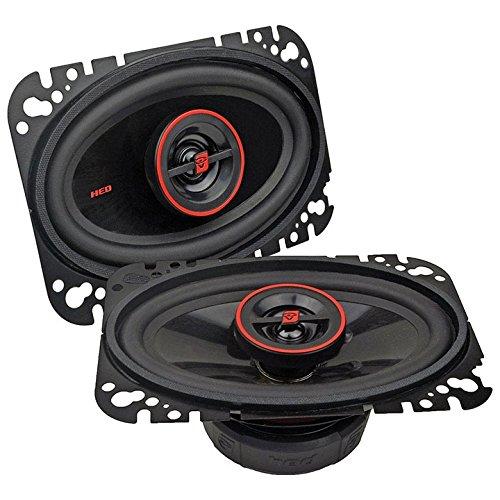 Cerwin-Vega 4x6-inch 2-Way 275w Speaker Car Audio Coaxial Full Range Car Stereo Speakers ()