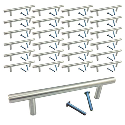(Swiss Kelly Stainless Steel Kitchen Cabinet Drawer Bar Pull Handle (25 Pack L: 6