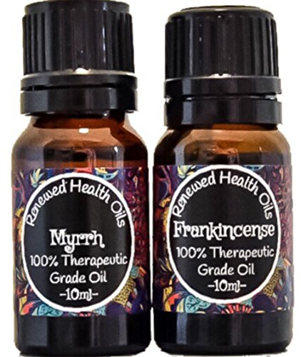 Frankincense and Myrrh Essential Oil Combo Pack Set 100% Pure Therapeutic Grade 2/10ml