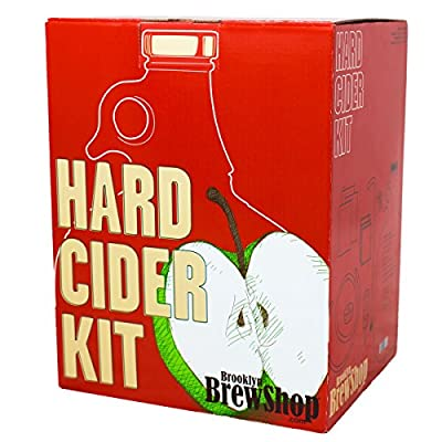 Brooklyn Brew Shop Hard Cider Making Kit: Starter Set with Reusable Glass Fermenter, Equipment, Ingredients – Perfect for Making Craft Hard Cider at Home