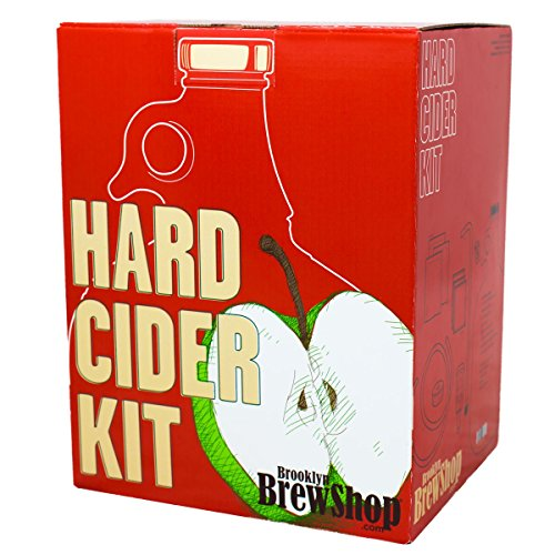 Glass Starter Kit (Brooklyn Brew Shop Hard Cider Making Kit: Starter Set with Reusable Glass Fermenter, Equipment, Ingredients - Perfect for Making Craft Hard Cider at Home)