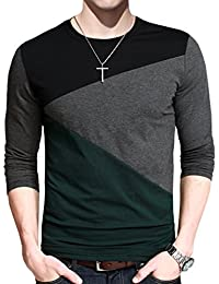 Mens Cotton Shirts Casual Tops Tee Classic Fit Basic T-Shirt